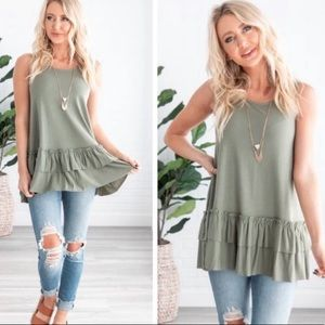 💚💚GREEN Lovers Tiered tank top